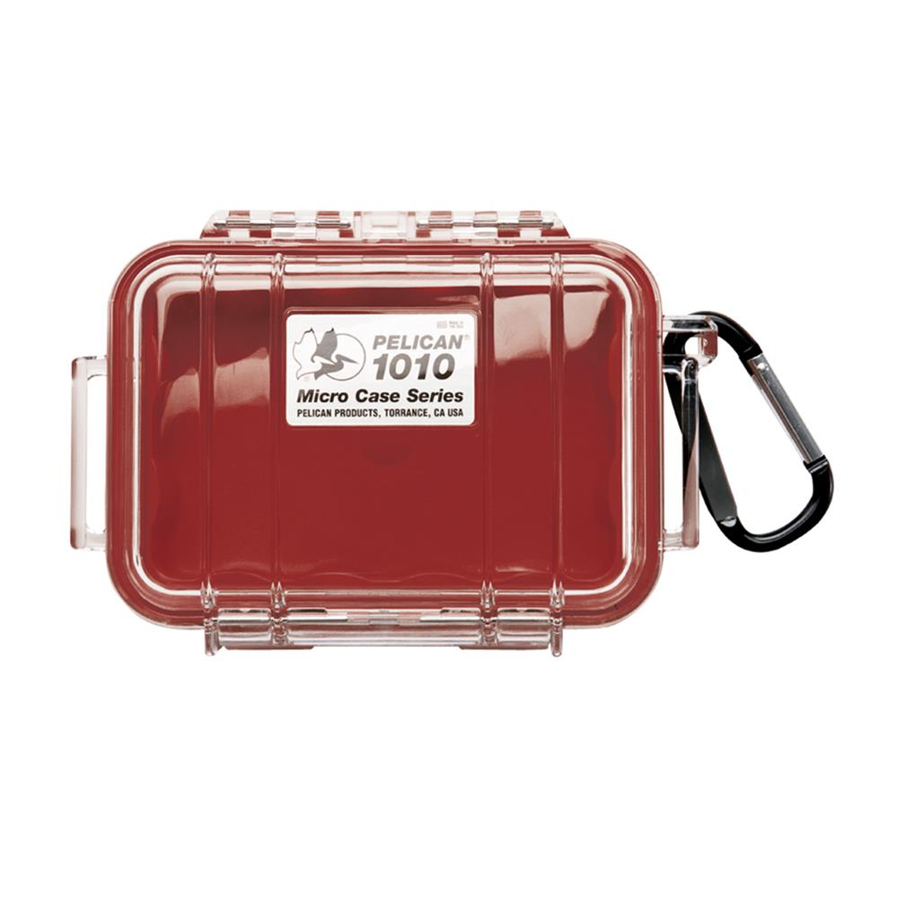 PELICAN CLEAR 1010 MICRO CASE, RED
