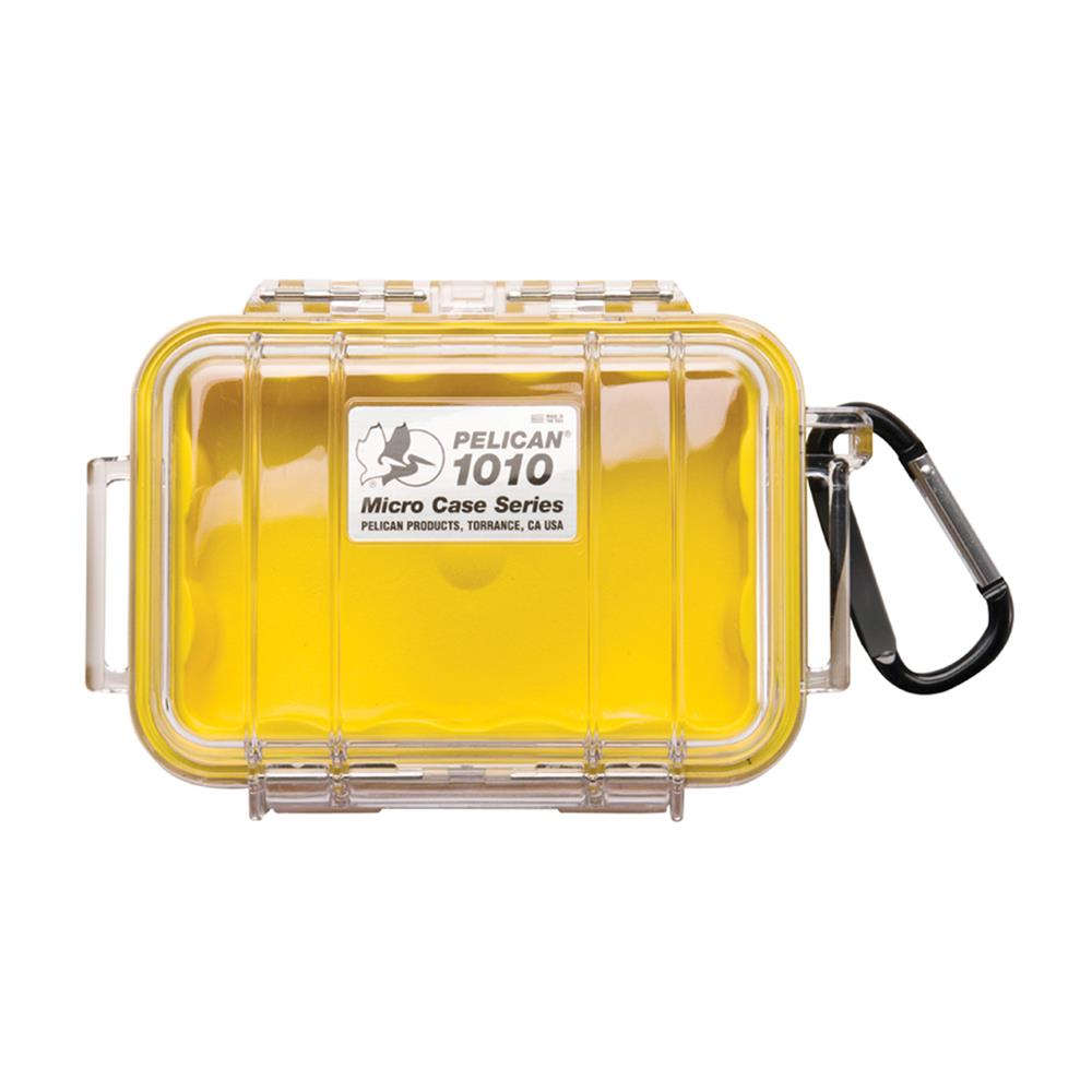 PELICAN CLEAR 1010 MICRO CASE, YELLOW