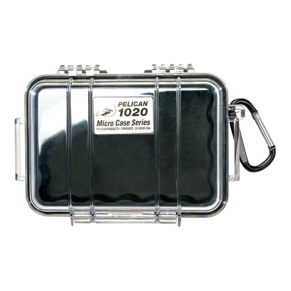 PELICAN CLEAR 1020 MICRO BLACK CASE