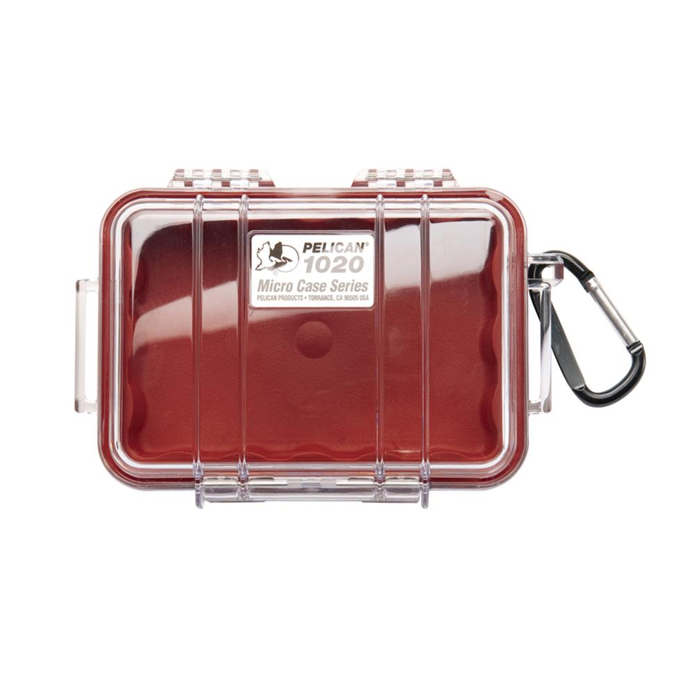 PELICAN CLEAR 1020 MICRO CASE, RED