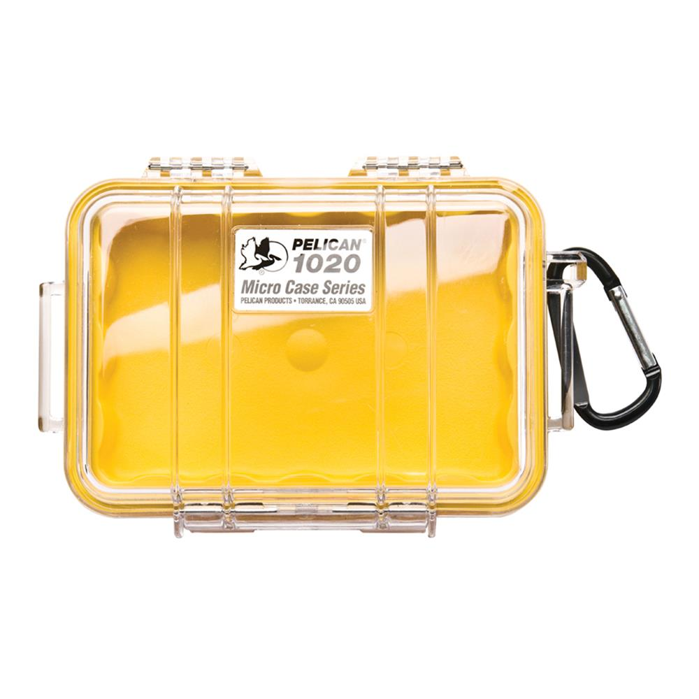 PELICAN CLEAR 1020 MICRO CASE, YELLOW