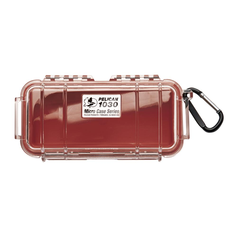 PELICAN CLEAR 1030 MICRO CASE, RED