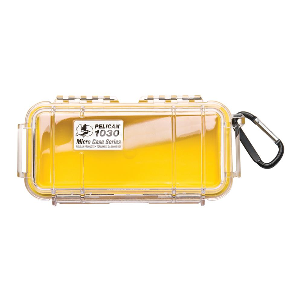 PELICAN CLEAR 1030 MICRO CASE, YELLOW