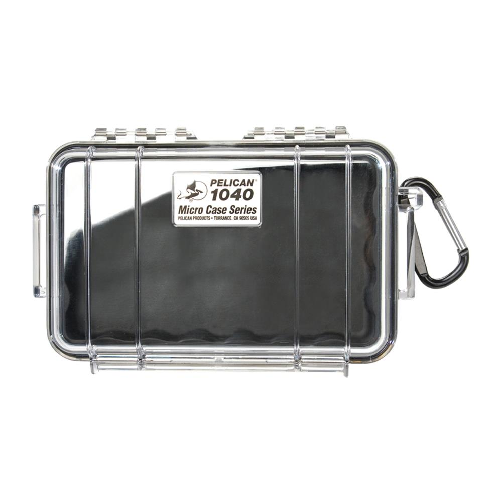 PELICAN CLEAR 1040 MICRO CASE, BLACK