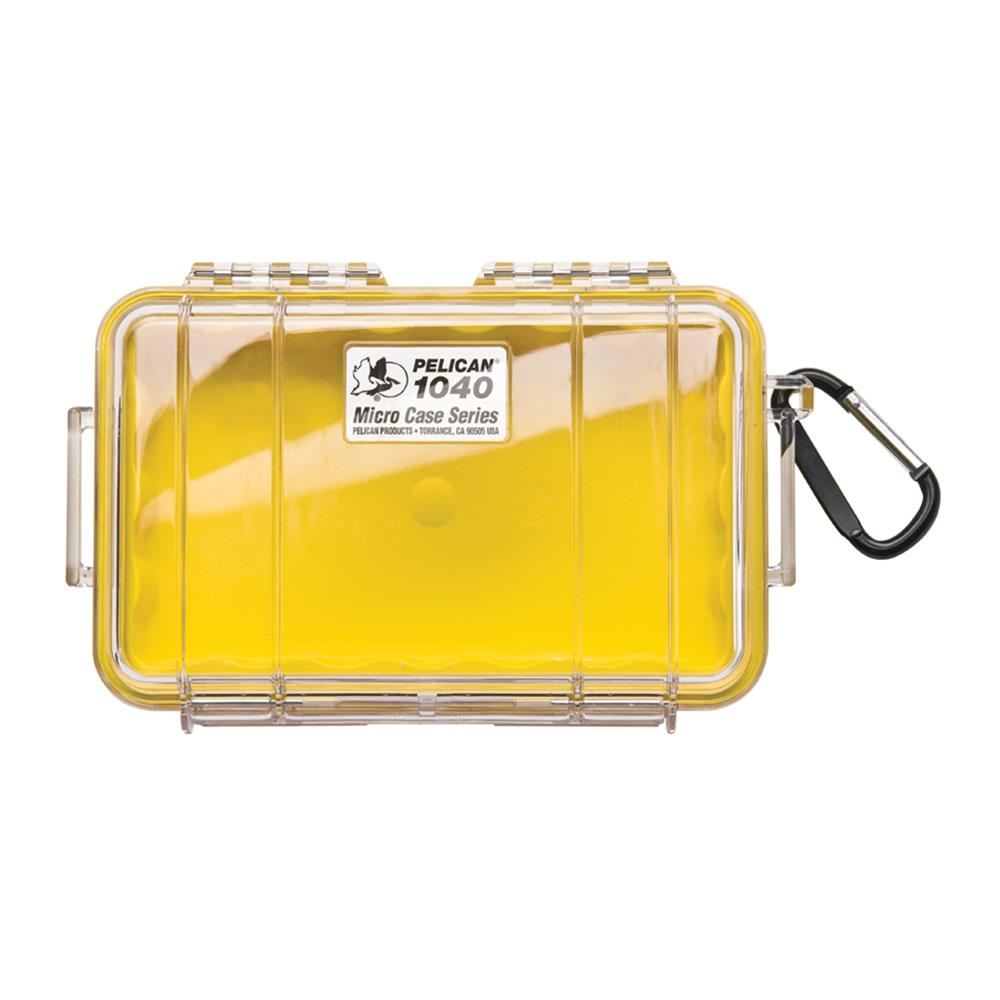 PELICAN CLEAR 1040 MICRO CASE, YELLOW