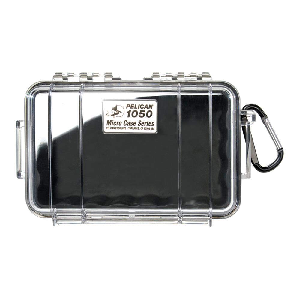 PELICAN CLEAR 1050 MICRO CASE, BLACK