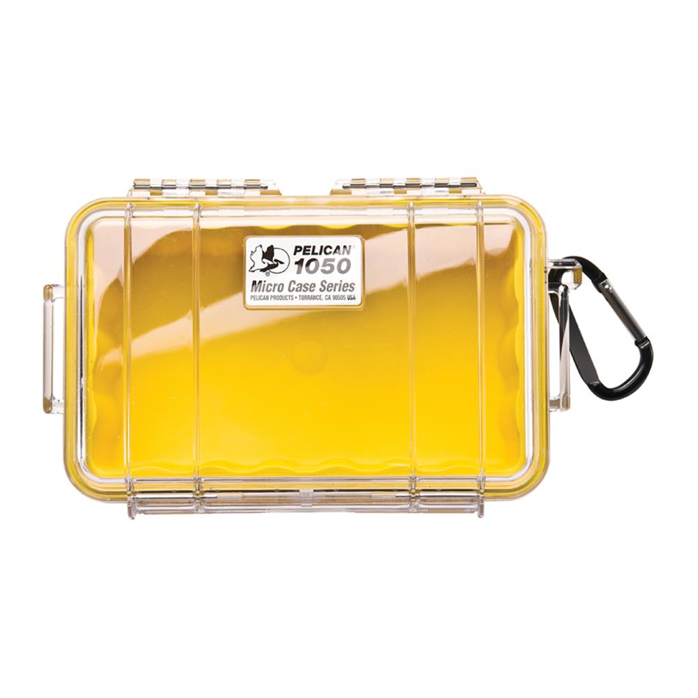 PELICAN CLEAR 1050 MICRO CASE, YELLOW