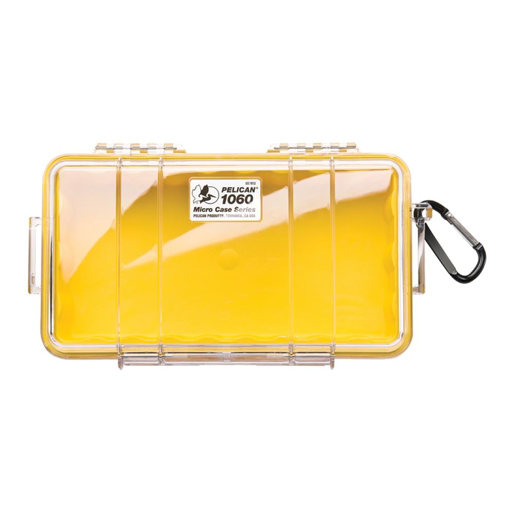 PELICAN CLEAR 1060 MICRO CASE, YELLOW