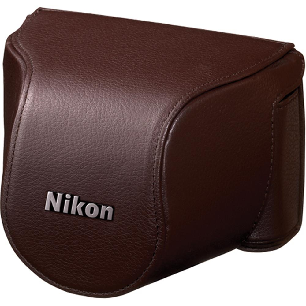 NIKON BROWN LEATHER BODY CASE SET (J1)