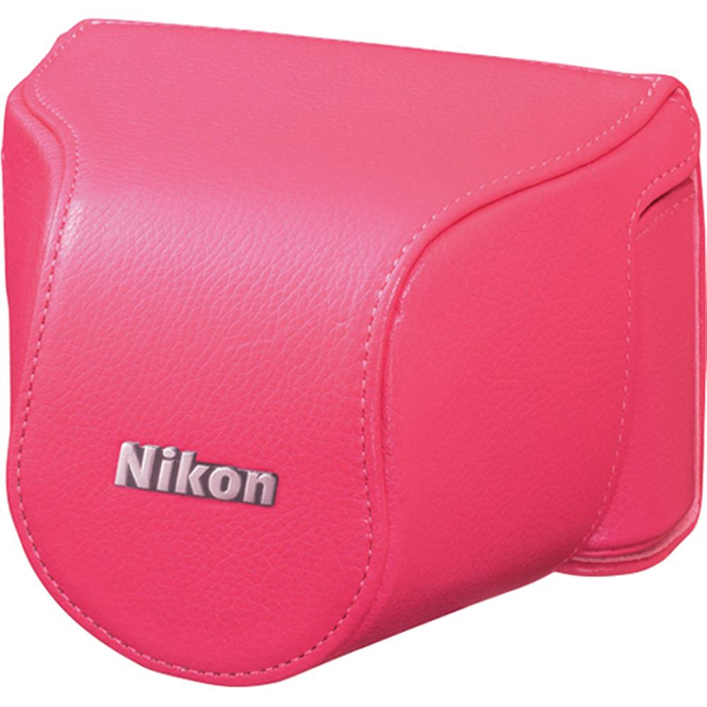 NIKON PINK LEATHER BODY CASE SET (J1)