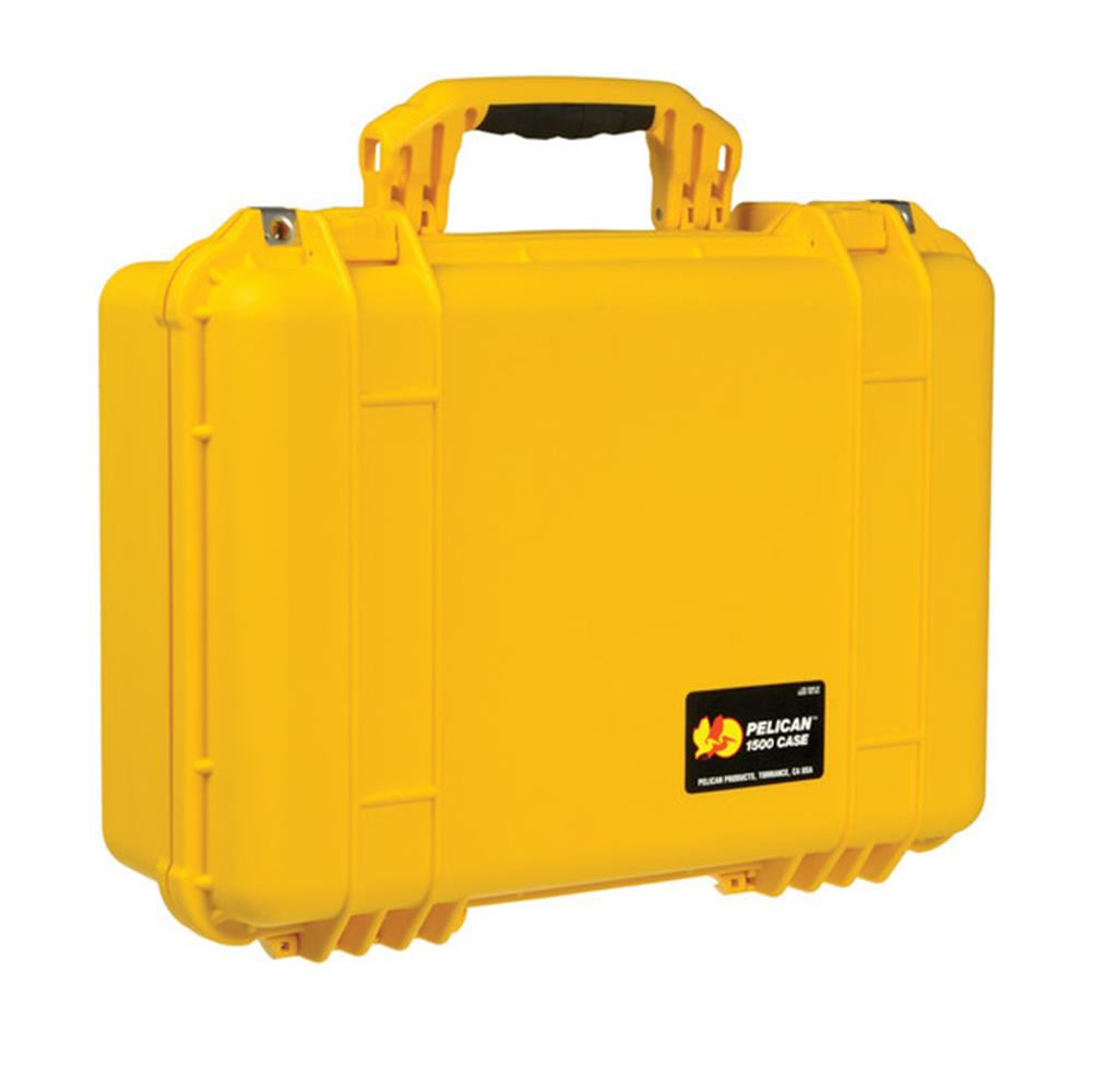 PELICAN 1500 CASE,  W/FOAM YELLOW