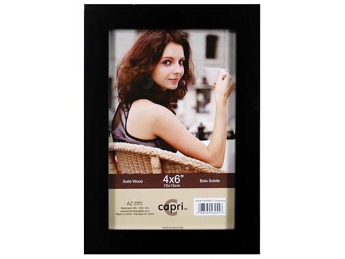 "CONTEMPO 4X6"" SOLID WOOD FRAME BLACK"