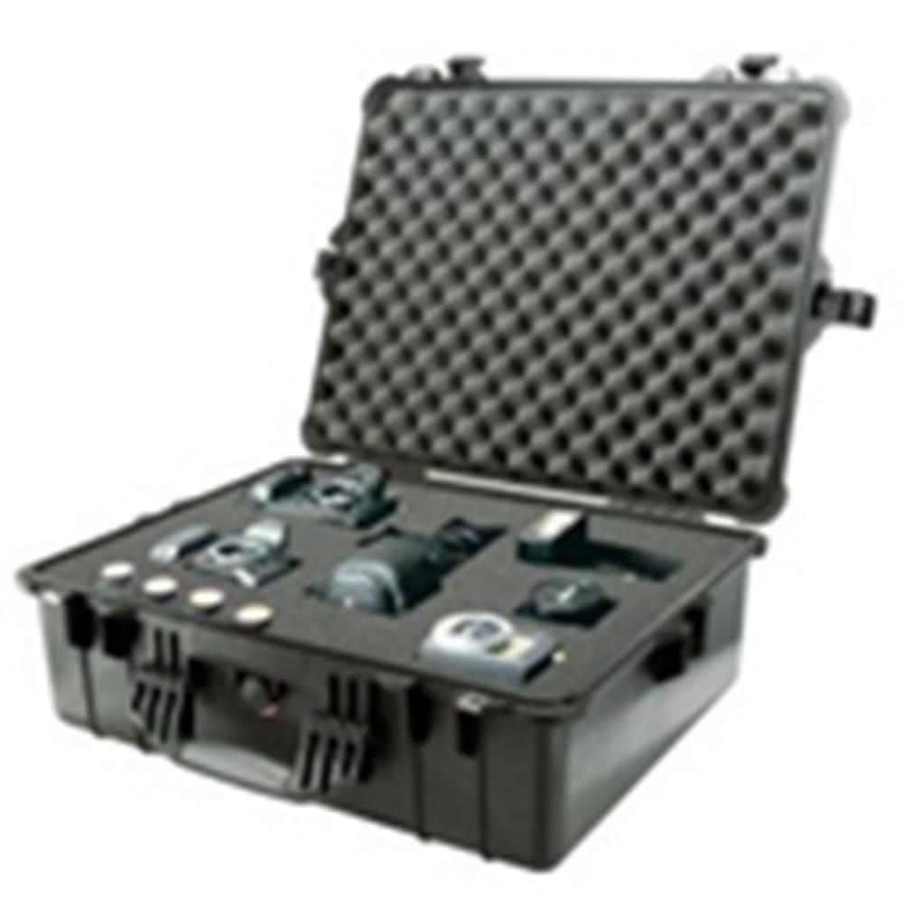 PELICAN 1600 CASE W/DIVIDERS BLACK