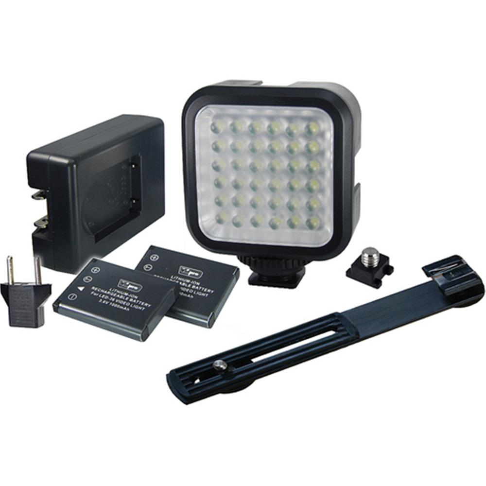 VIDPRO LED LIGHT/BRACKET/RECHRG BATTERY