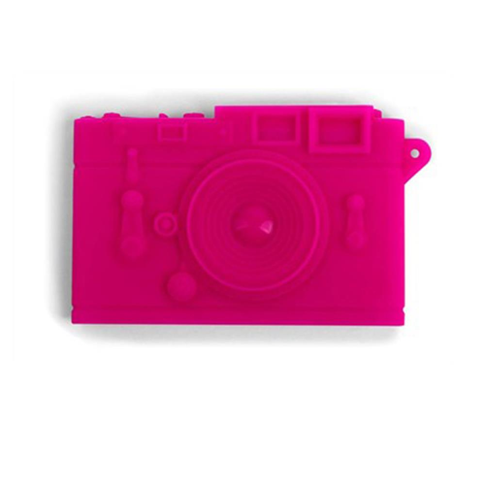 NAME CARD CASE, CAMERA-PINK