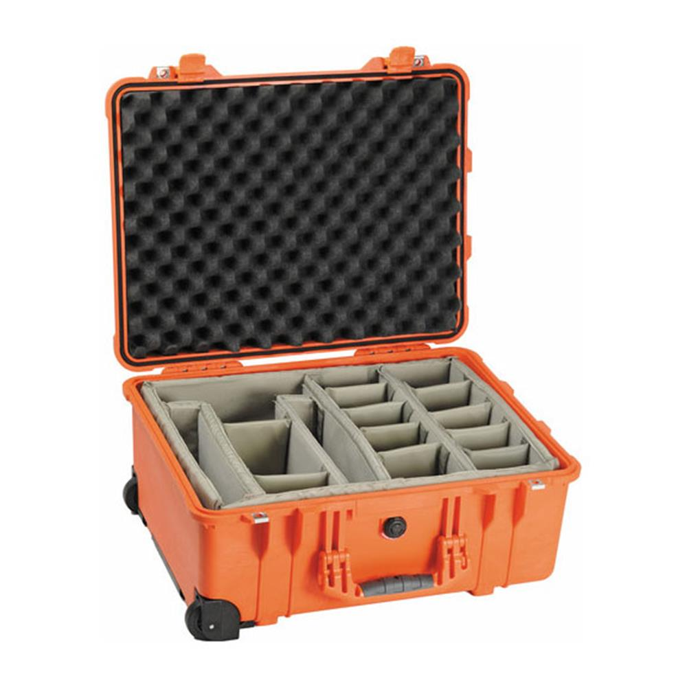 PELICAN 1560 ORANGE CASE WITH DIVIDERS