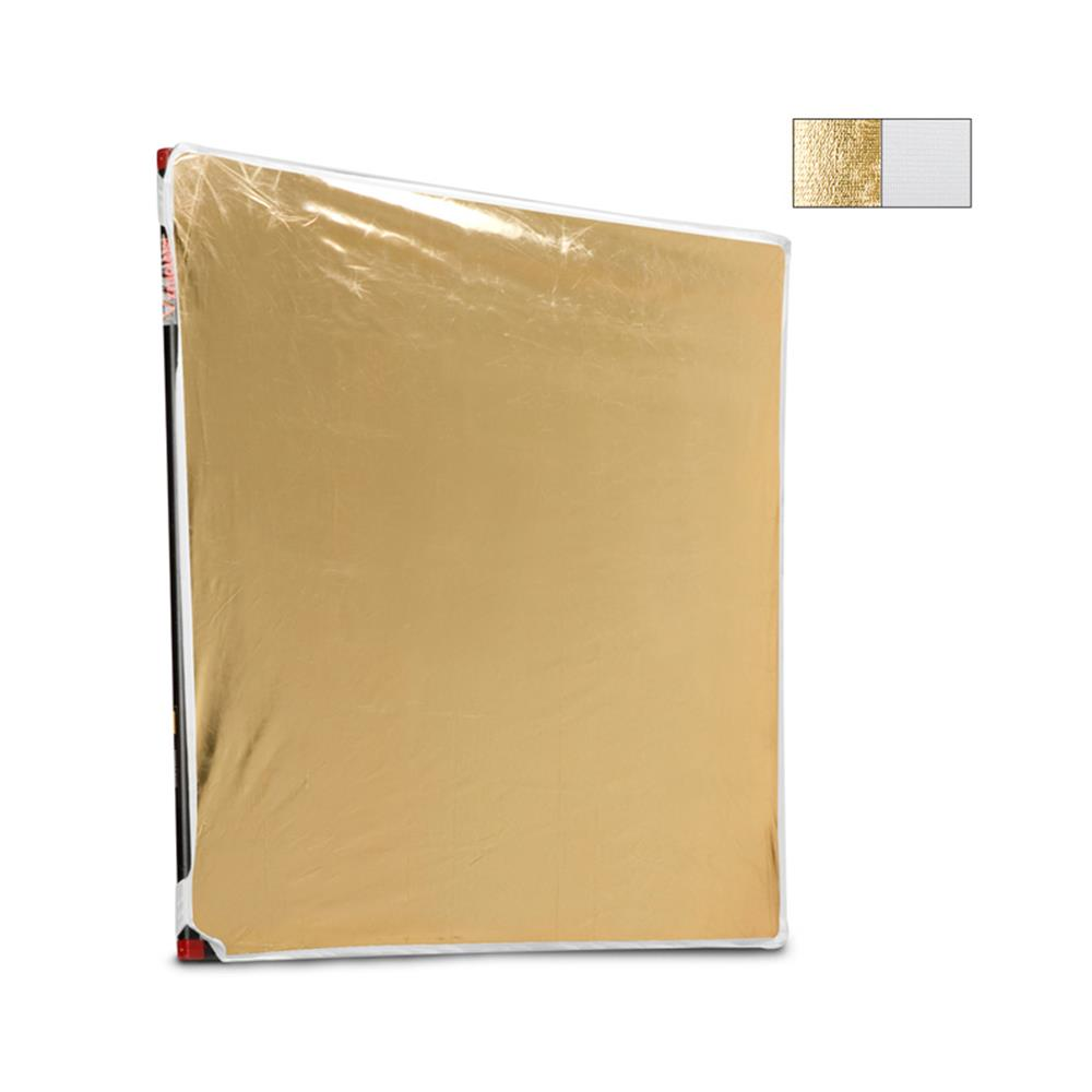 "PHOTOFLEX 39X39"" WHITE/GOLD FABRIC"
