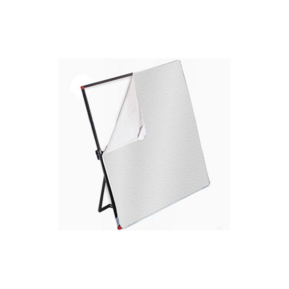 "PHOTOFLEX 77X77"" WHITE/SILVER FABRIC"