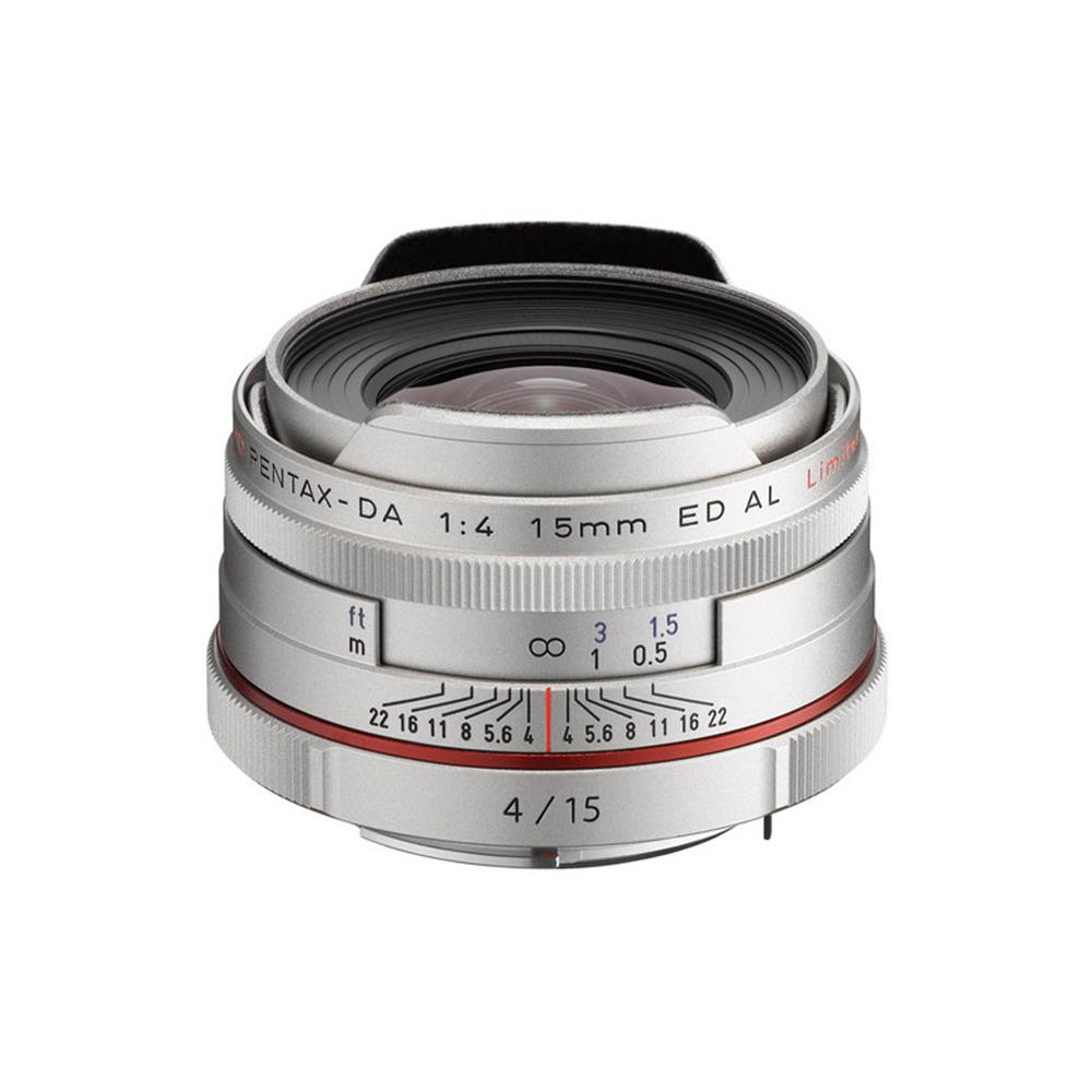 PENTAX HIGH DEFINITION DA 15MM F4 ED AL LIMITED SILVER