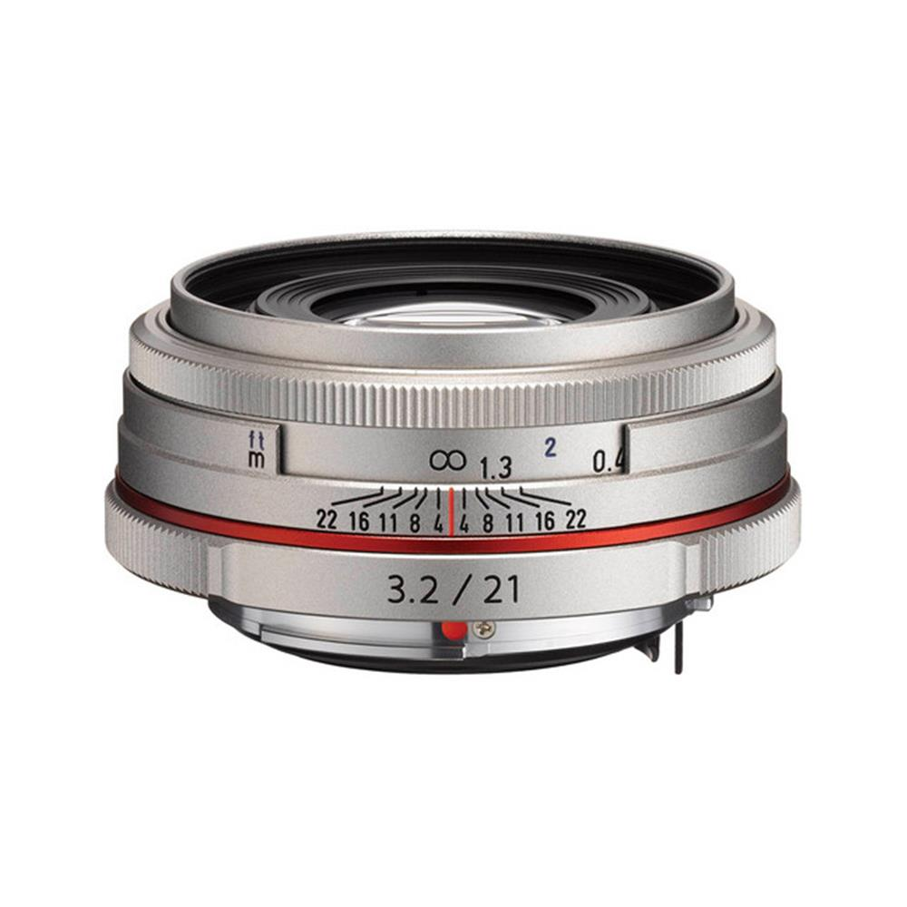 PENTAX HIGH DEFINITION DA 21MM F3.2 LIMITED LENS SILVER