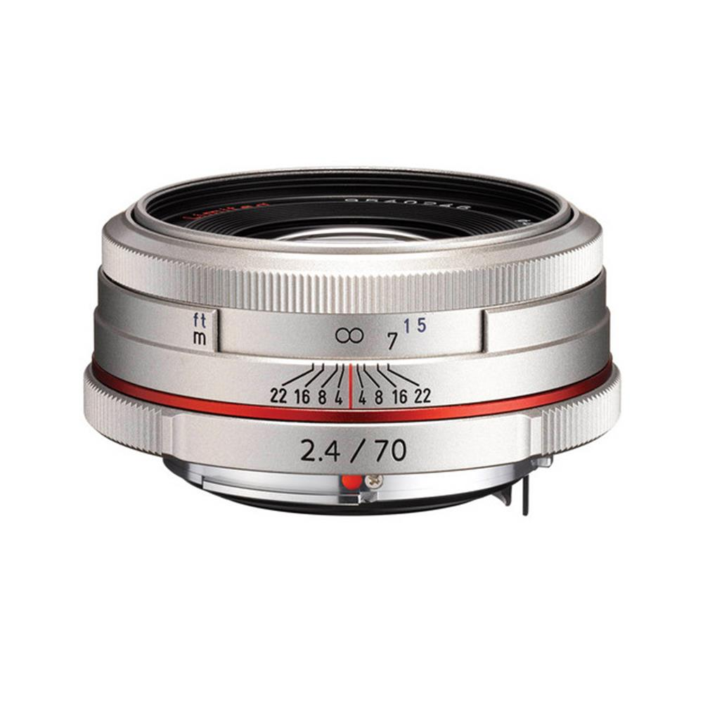 PENTAX HIGH DEFINITION DA 70MM 2.4 LIMITED LENS SILVER