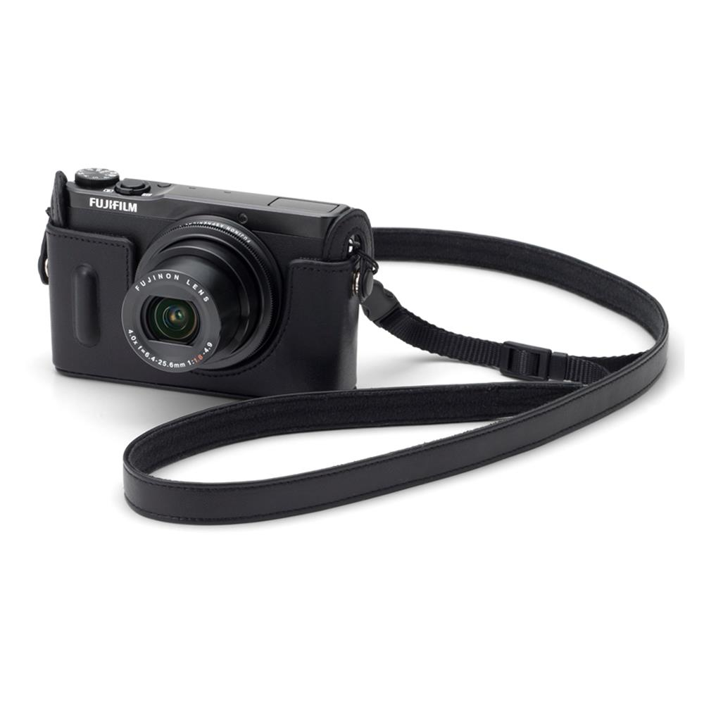 FUJI XQ1 LEATHER CAMERA BOTTOM CASE BLACK