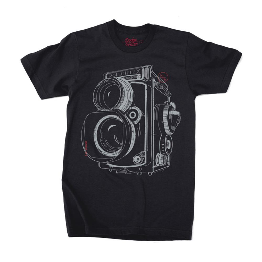 DODGE & BURN TSHIRT TWIN LENS BLACK M