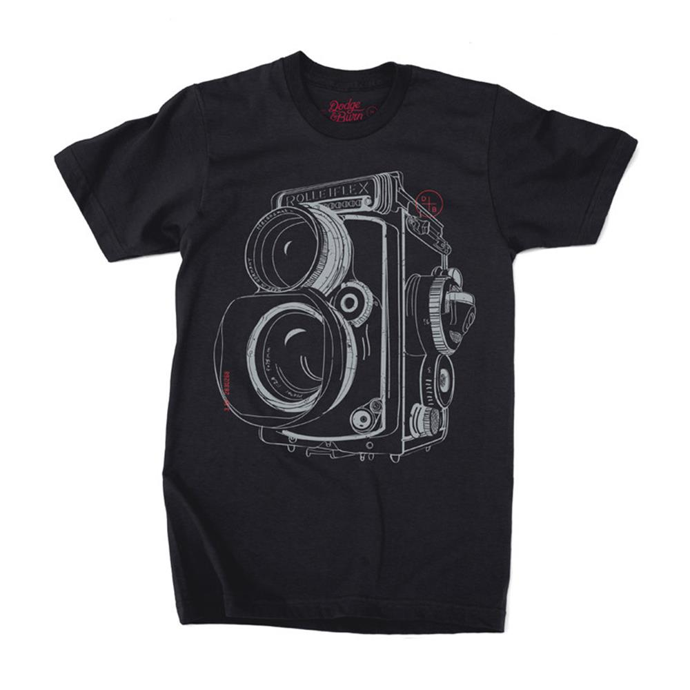 DODGE & BURN TSHIRT TWIN LENS BLACK L