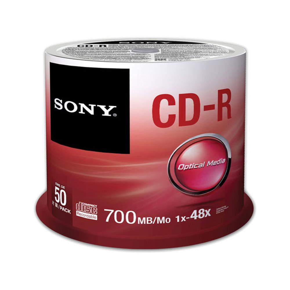 SONY 50CDQ80SP 700MB CDR 50PC SPINDLE