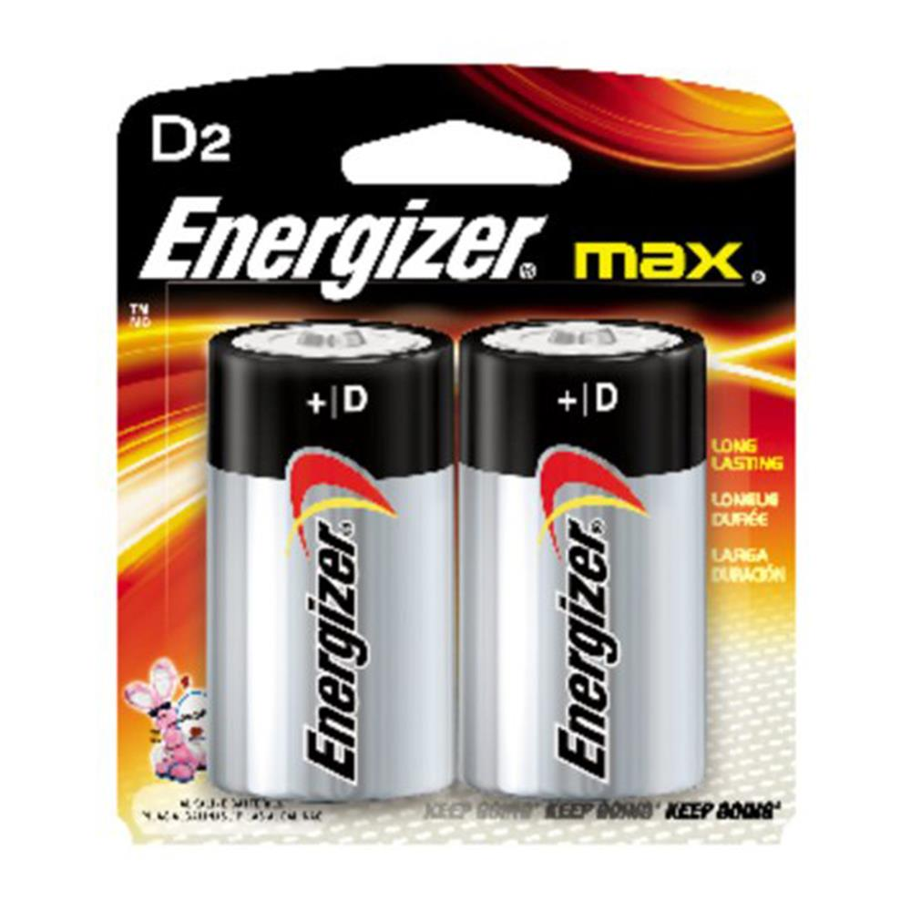 ENERGIZER MAX D-SIZE BATTERY 2PK