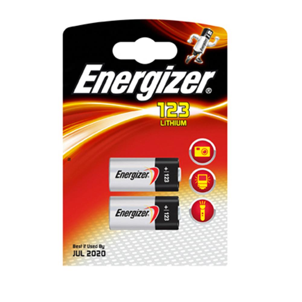 ENERGIZER CR 123 - 2 PACK BATTERY