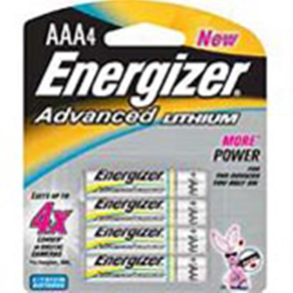 ENERGIZER ADVANCED AAA/4 LITH BATTERIES