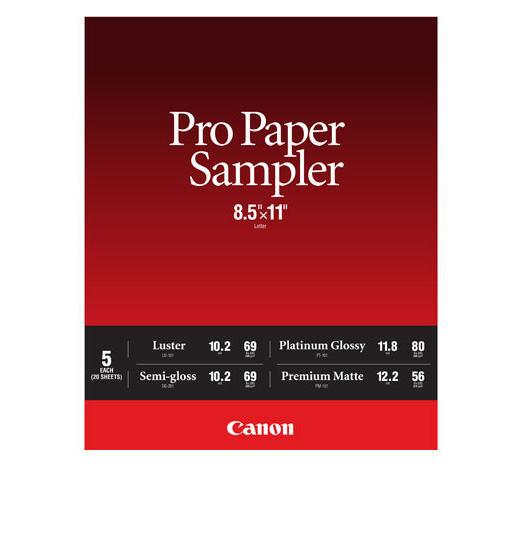 Canon 8.5 x 11 Pro Photo Paper Sample Pack