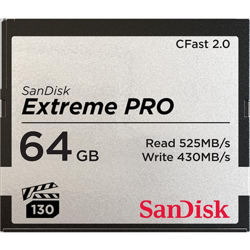SanDisk 64 GB Extreme Pro CFAST 3500x Memory Card