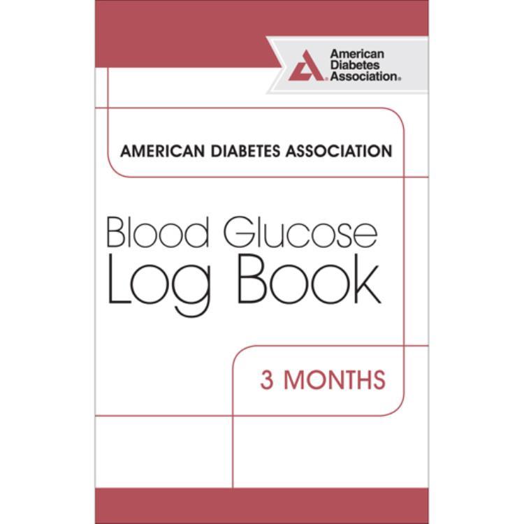 ada blood glucose log book 4 pkg